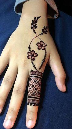 Ideas for tattoo ideas finger henna mehndi Simple Mehndi Designs Fingers, Modern Henna Designs, Henna Tattoo Designs Simple, Latest Henna Designs, Floral Henna Designs, Finger Henna Designs, Henna Art Designs, Mehndi Designs For Girls, Mehndi Designs 2018