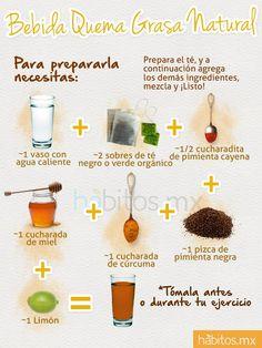 Bebida quema grasa natural (tomado de habitos.mx)