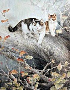 Binkelam'ın Kardeşi: Gongbi Tekniği İle Kedi Çizimleri / Xing Chengai