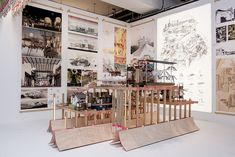 The Bartlett Summer Show 2016 Photography: Stonehouse Photographic Tectonic Architecture, Architecture Graphics, Architecture Models, Bartlett School Of Architecture, Landscape Model, School Events, Photo Wall, Presentation Boards, Frame