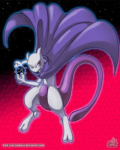 Legendary mewtwo - shadow ball attack!!! by XSol-StudiosX