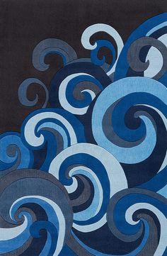 Toutes les nuances de bleus possibles dans une seule et même illustration. On aime!
