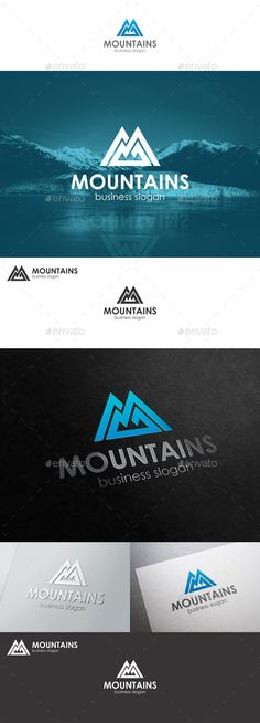 Buy Mountains Logo Monogram M Letter by djjeep on GraphicRiver. Blue Mountains Monogram M Logo – Mountains Peak Logo Template. Is a clean, professional and elegant logos suitable fo. M Letter, Letter Logo, Letter Vector, Design Logo, Branding Design, Graphic Design, Logo Inspiration, Berg Logos, Tolle Logos