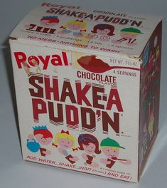 """Let's see who's old enough to remember Shake-A-Pudd'n!  My Dad wouldn't let us eat it very often--he said  """"Anything that sets up that fast can't be good for your stomach;-)"""