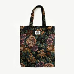 Midnight Blossom Tote Bag #themidnightfactory #handmade #totebag #tote