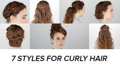 7 Days of Easy Curly Hairstyles: Curly hair is a godsend. Easy Hairstyle Video, My Hairstyle, Braided Hairstyles, Cool Hairstyles, Curly Hair Styles Easy, Natural Hair Styles, Short Hair Styles, Curly Hair Braids, Twisted Hair