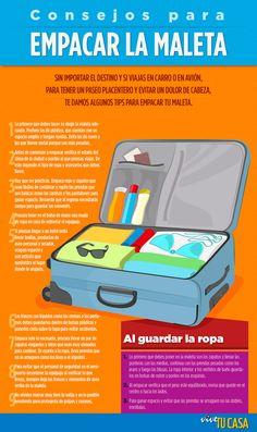 Consejos para empacar tu maleta estas vacaciones