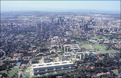Johannesburg, Gauteng: Johannesburg Hospital and the city skyline, looking east. Photo by Solly van Staden. Copyright City of Johannesburg