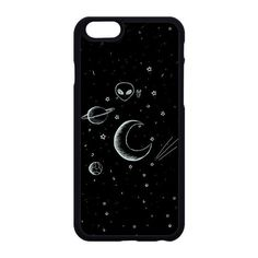 Space Doodle 2.0 Phone Case Planet Stars Cute Hipster Aesthetic Tumblr... (€15) ❤ liked on Polyvore featuring accessories and tech accessories