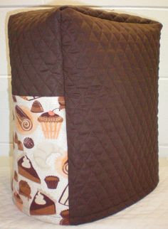 Chocolate Brown Quilted Dessert Theme Cover for Sunbeam Heritage Series 4.6qt Mixmaster Stand Mixer