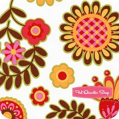 Ooh La La Spice Bouquet De Fleurs Yardage  SKU# DC5198-SPIC-D   Ooh La La by Pillow & Maxfield for Michael Miller Fabrics  {several colors}