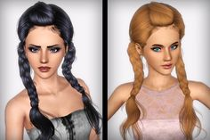 NewSea's J175 Weed Flower hair retextured by FaA - Sims 3 Downloads CC Caboodle