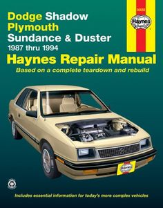 Dodge Shadow & Ply. Sundance '87'94 (Haynes Repair Manuals) - http://musclecarheaven.net/?product=dodge-shadow-ply-sundance-8794-haynes-repair-manuals