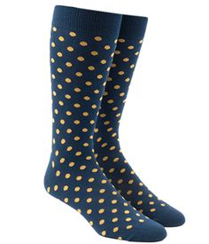 Circuit Dots - Navy/Yellow (Men's Socks)