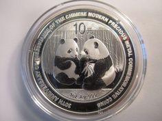 2009 china chinese panda 30th anniversary 1 oz .999 silver coin AS SHOWN