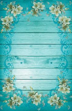 Free Image on Pixabay - Turquoise, Blue, Frame, Flowers Free Wallpaper Backgrounds, Flower Background Wallpaper, Pretty Wallpapers, Flower Backgrounds, Textured Background, Photo Backgrounds, Iphone Wallpaper, Borders For Paper, Borders And Frames
