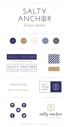 Business Branding Guidelines Kit Logo Design by saltyanchordsgn