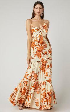 Corazon Pacifico Floral Poplin Maxi Dress by Johanna Ortiz Elegant Dresses, Pretty Dresses, Beautiful Dresses, Dress Skirt, Dress Up, Dress Outfits, Fashion Dresses, Evening Dresses, Summer Dresses