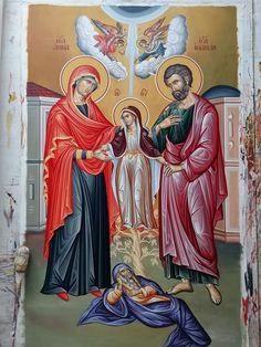 Byzantine Icons, Byzantine Art, Religious Icons, Religious Art, Roman Church, Bible Pictures, Catholic Art, Art Icon, Holy Family