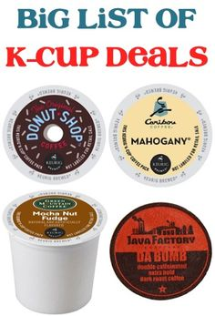 BIG List of K Cup Deals: as low as 39c each + FREE Shipping! #kcups #thefrugalgirls