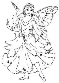 Dibujo Hadas Para Colorear Dibujos Infantiles Hawaii  DIBUJOS