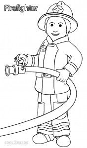 Free Community Helper Coloring Pages