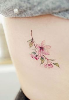 Cherry Blossom Tattoo Designs are accepted by many people as these are mainly nature-themed tattoos. Hence, here we are giving you 9 Cherry Blossom Tattoo D Delicate Flower Tattoo, Flower Tattoo On Side, Tattoo Designs And Meanings, Flower Tattoo Designs, Diy Tattoo, Tattoo Fonts, Tattoo Ideas, Tattoos For Women Small, Small Tattoos