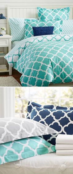 This bedding does an about face, reversing to the opposite color scheme for two looks in one. #girlsbedding #littlegirlsbedding #floralbedding #girlsbedroomideas #kidsbedding #girlsbedroom, #girlsroom, #kidsroomsgirlsdreamrooms #kidsbedroomideas Teen Girl Bedding, Teen Girl Bedrooms, Little Girl Beds, Opposite Colors, Floral Bedding, New House Plans, Dream Rooms, Kid Beds, Bedding Collections