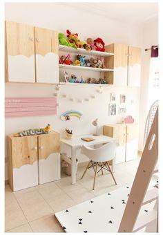 Ikea Ivar Regal, Girls Bedroom, Ikea Ivar Cabinet, Kids Room Design, Nursery Design, Billy Ikea, Ikea Kids Room, New Room, Room Inspiration