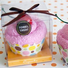 Cupcake Towel Treat - Goodie bags - goody bags for kids party - birthday goodie bags - birthday gift ideas - party favors