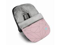 Saco portabebés universal, grupo 0, Canadá Geometric Rosa.  Moderno diseño geométrico sobre fondo rosa y combinado con tejido polar gris.  Es impermeable. Ideal para el invierno.  De Baby Clic.  http://www.aqdecoracion.es/saco-portabebes-silla-de-paseo-grupo-0-canada-geometric-rosa-baby-clic_2460.html