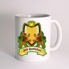Jah king crest Jah Rasta for Mug Design