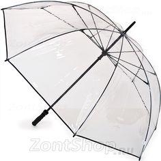 Зонт трость для влюбленных Fulton S841 004 Прозрачный (большой купол-128см)