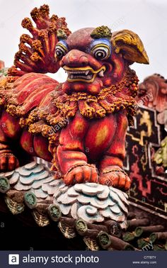 Roof Sculpture & Art, Chen Family Temple, Guangzhou Stock Photo