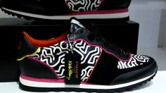 You will be the talk of the town w/ these limited edition sneakers. Pair them w/jeans or your favorite workout outfit to show off your eclectic style and represent the late artist Keith Haring in this exclusive collection. | eBay!