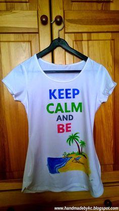 hand painted tshirt for girl #keepcalm #beach #handmade #diy #keep #calm #girl #fashion