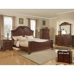 Crown Mark - 5-PC Traditions Cherry Wood Traditional Queen Panel Bedroom Set - 59B2410QSET5NS SPECIAL PRICE: $1,773.00