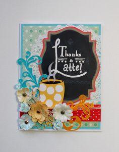 """Thanks a Latte"" chalkboard thank you card"