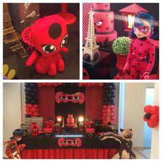 mariahelenadecora 19 992197309 orçamentos para decoramh@gmail.com - Horário de atendimento 8-17hrs: Miraculos Ladybug : MESA BÁSICA