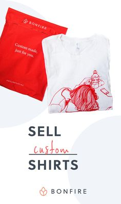 Sell custom shirts on Bonfire. Design a shirt, launch your campaign, and spread the word on social media. Bonfire ships all orders directly to your customers, while you get an easy payout of all campaign profits. Photoshop Design, How To Make Money, How To Wear, Swagg, Diy Clothes, Custom Shirts, Design Inspiration, Design Ideas, Shirt Designs