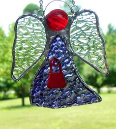 Red Hat Angel Ornament I made.