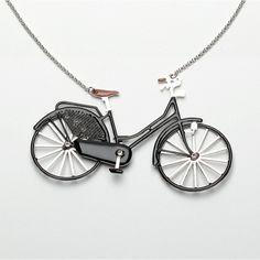 carbon dutch bycicle necklace
