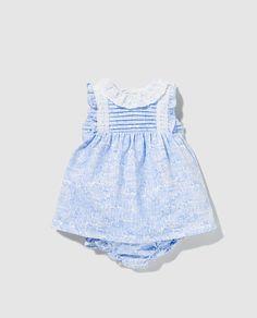Vestido de bebé niña Dulces con estampado azul