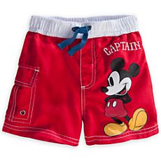 Mickey Mouse Swim Trunks for Baby - Red Disney Baby Clothes, Disney Outfits, Boy Outfits, Disney Boys, Baby Disney, Baby Kids, Baby Boy, Boys Closet, Baby Swimsuit