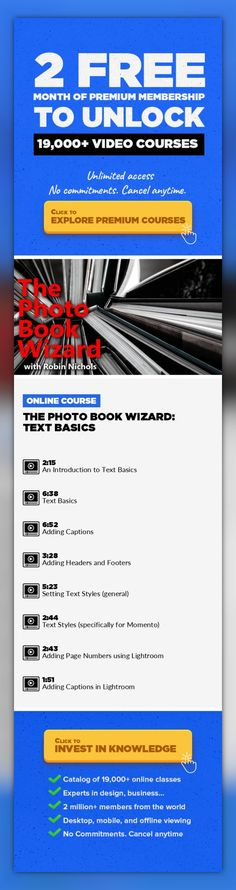 The Photo Book Wizard: Text Basics Photography, Adobe Photoshop, Digital Publishing, Creative, Book Design, Text Design, Font Styles #onlinecourses #studyroom #socialskills   Everyone needs text in a photo book - even if it's just to add a snazzy title to the font cover. In this class I show you how the text editor works - in some software it works well, in others it might be slow and clunky, you ...