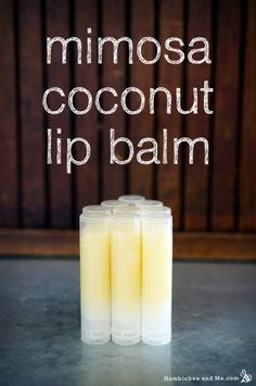 Mimosa Coconut Lip Balm Recipe   Humblebee and Me.