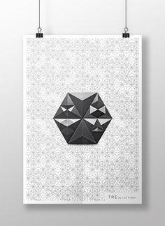 TRE by Levi Fignar - Decorative graphic design for Kaza Concrete.