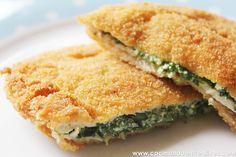 Escalopines de lomo extratiernos con espinacas y queso by Cocinando entre Olivos, via Flickr