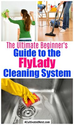 How to Get Started with the FlyLady System- Even if you're always busy you can still have a clean and organized home. You just need to learn how to do the FlyLady cleaning system! This huge beginner's guide has everything you need to know to get started with this popular cleaning method! | how to keep your home clean with kids, #cleaning #cleaningTips #flyLady #homemaking #ACultivatedNest Fly Lady Cleaning, Zone Cleaning, Speed Cleaning, Deep Cleaning Tips, Household Cleaning Tips, Cleaning Checklist, House Cleaning Tips, Diy Cleaning Products, Spring Cleaning