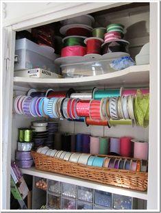 How to organize a crafts closet